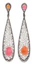Medium arunashi pink conch pearl earrings 2