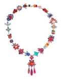 Medium irene neuwirth multi one of a kind necklace with drop pendant