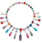 Medium irene neuwirth multi one of a kind fan necklace