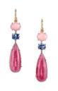 Medium irene neuwirth pink pink opal sapphire and tourmaline earrings