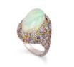 Medium fabio salini multi ring with opal pave set fancy sapphires diamonds and pink gold