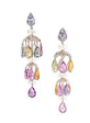 Medium fabio salini pink earrings carrousel with fancy sapphires