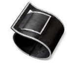 Medium fabio salini black bracelet fibbia with carbon fiber and diamonds
