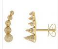 Medium noor fares gold geometry 101 5 cone stud earring