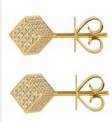 Medium noor fares gold geometry 101 cube stud earrings