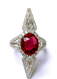 Medium bayco red ruby diamond ring ii