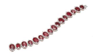 Medium bayco red ruby diamond bracelet