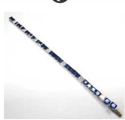 Medium bayco blue sapphire diamond bracelet