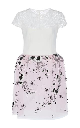 Medium georges hobeika multi intricate lace mini dress