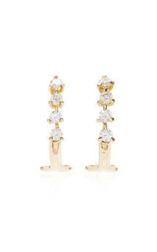 Medium ana khouri gold 18k yellow gold diamond maneola earrings