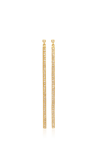 Medium yossi harari gold long stick earrings in gold