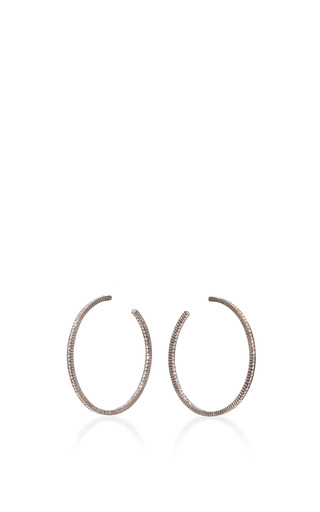 Medium yossi harari gold lilah large diamond hoop earrings