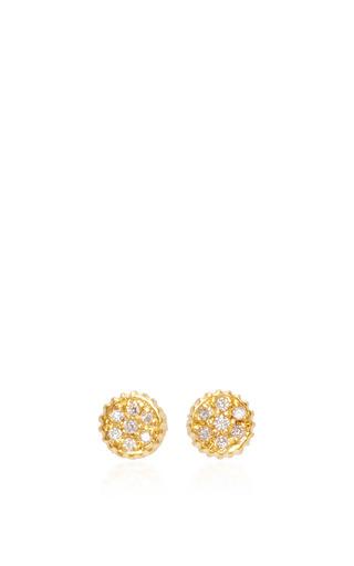 Medium yossi harari gold lilah gold stud earrings with diamonds