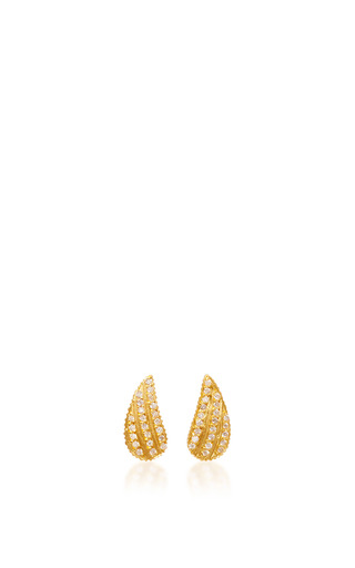 Medium yossi harari gold lilah wing stud earrings