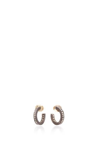 Medium yossi harari gold lilah xs diamond hoop earrings