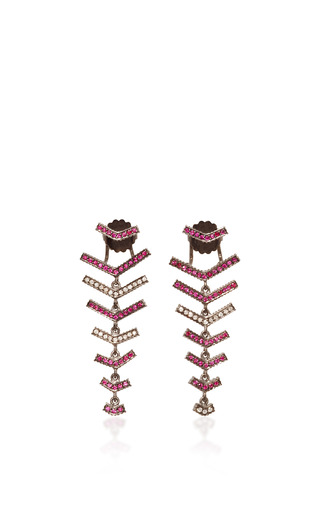Medium yossi harari gold lilah chevron earrings