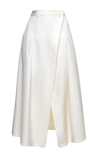 Medium elenareva neutral midi wrap skirt