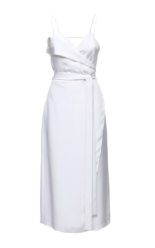 Medium elenareva white double breasted robe dress