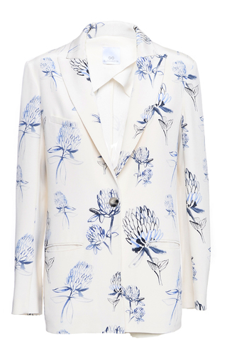 Medium elenareva print single button floral printed jacket