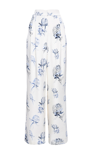 Medium elenareva print high rise pleated relaxed trousers
