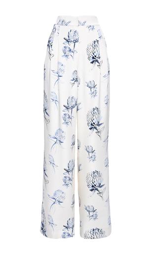 Medium elenareva print high rise pleated relaxed trousers