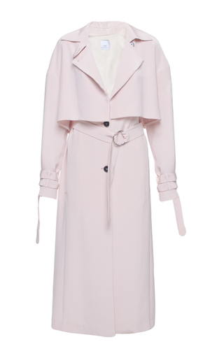 Medium elenareva pink midi trench coat