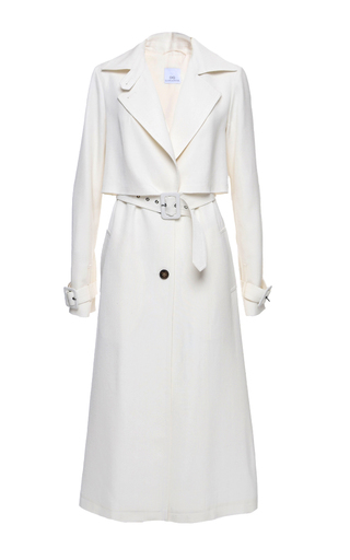 Medium elenareva neutral belted trench coat