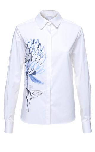 Medium elenareva white floral print shirt