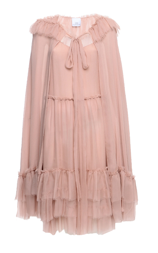 Medium elenareva neutral sleeveless ruffle dress