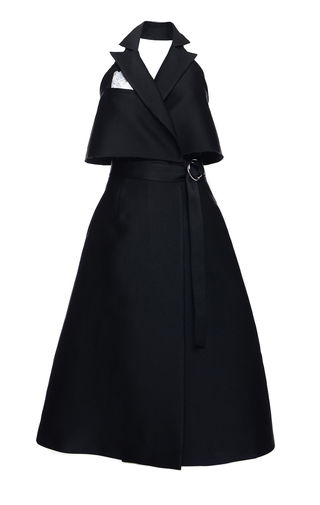 Medium elenareva black sleeveless trench dress