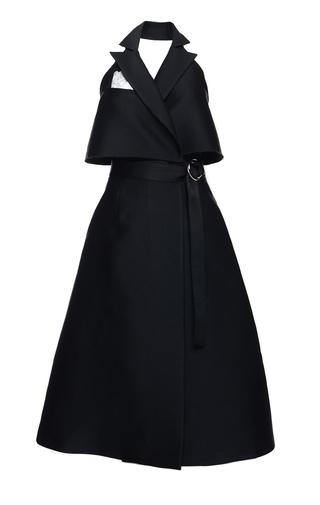 Medium elenareva black sleeveless trench dress