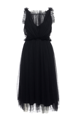 Medium elenareva black netted sleeveless dress