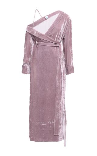 Medium elenareva pink bare shoulder velvet dress