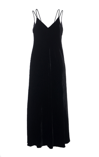Medium elenareva black velvet slip dress