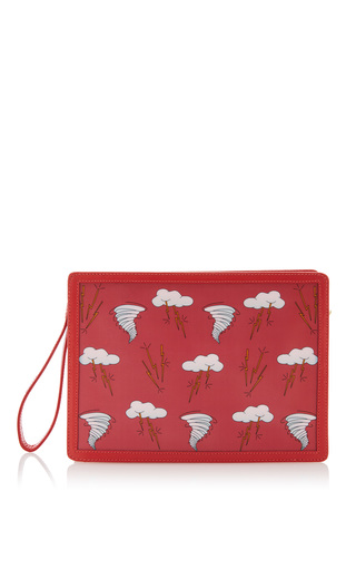 Medium reine red tropical storm illuminating clutch