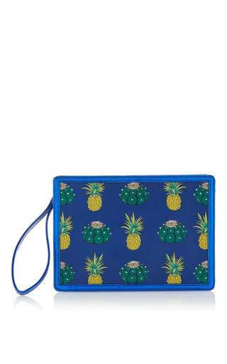 Medium reine blue pineapple express illuminating clutch