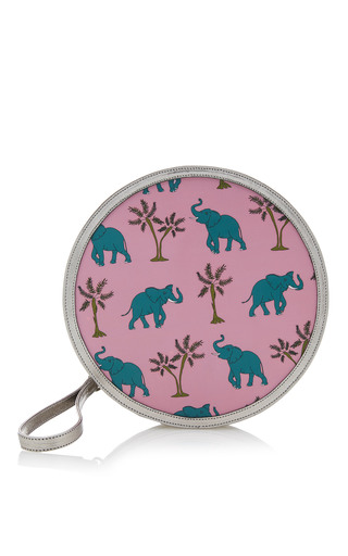 Medium reine silver pink elephantastic illuminating round clutch