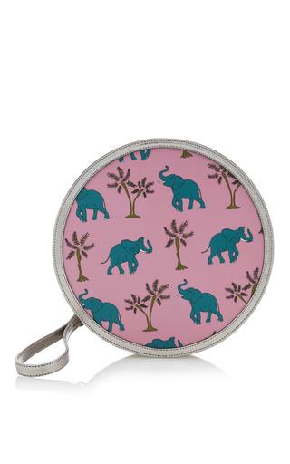Medium reine silver pink elephantastic illuminating round clutch