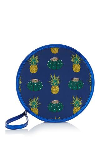 Medium reine blue pineapple express illuminating round clutch