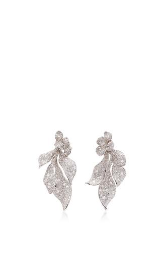 Medium neha dani white diamond neptune earrings