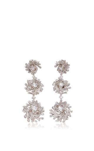 Medium neha dani white diamond rip curl earrings