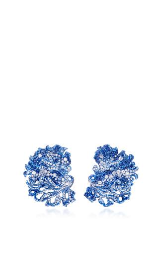 Medium neha dani blue rhea ear clips
