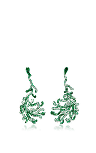 Medium neha dani green nadia earrings