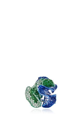 Medium neha dani green teal ring