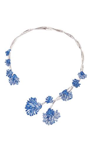 Medium neha dani blue evita sapphire collar