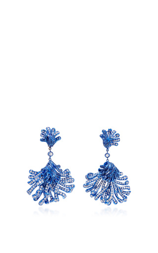 Medium neha dani blue corail earrings