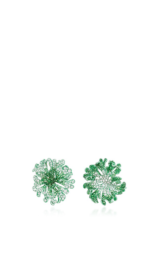 Medium neha dani green jolene earrings