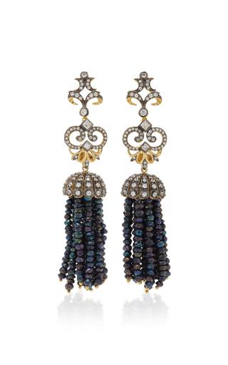Medium anabela chan black midnight tassel earrings