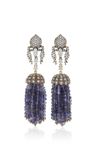 Medium anabela chan blue stardust tassel earrings
