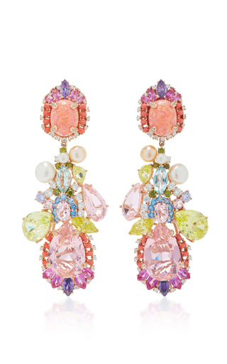 Medium anabela chan multi opal nereides earrings